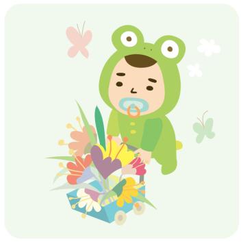 01 아기 - 꽃마차